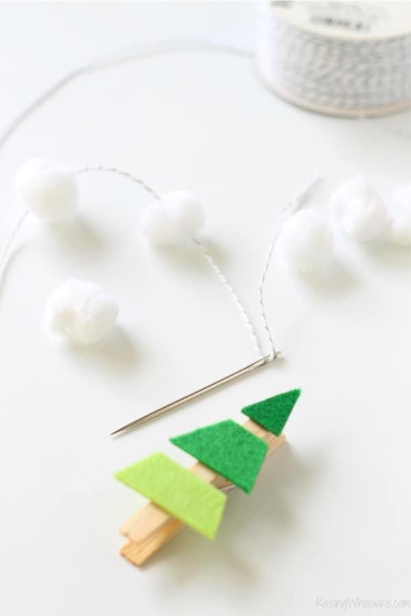 christmas tree garland idea to make at home