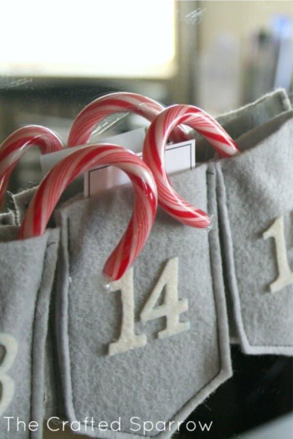 cute diy garland for advent calendar
