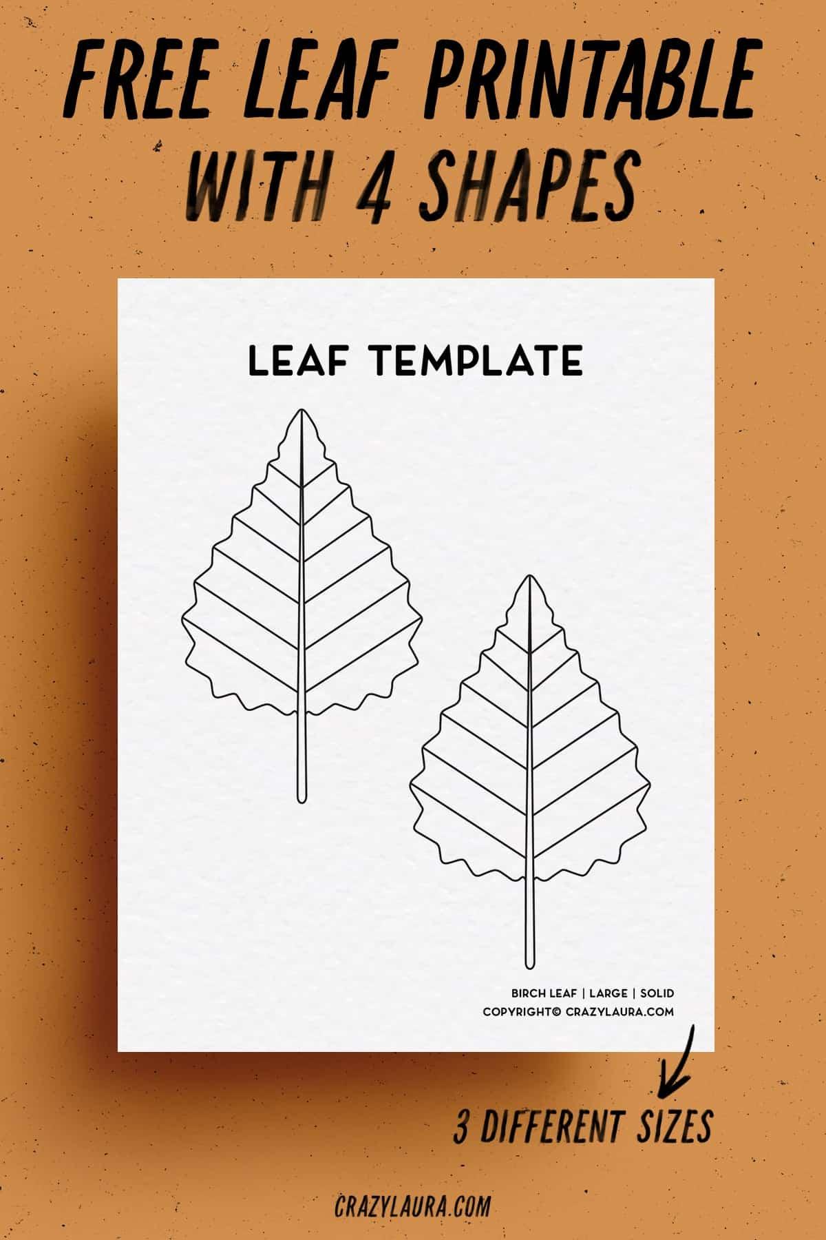 free paper printable leaves
