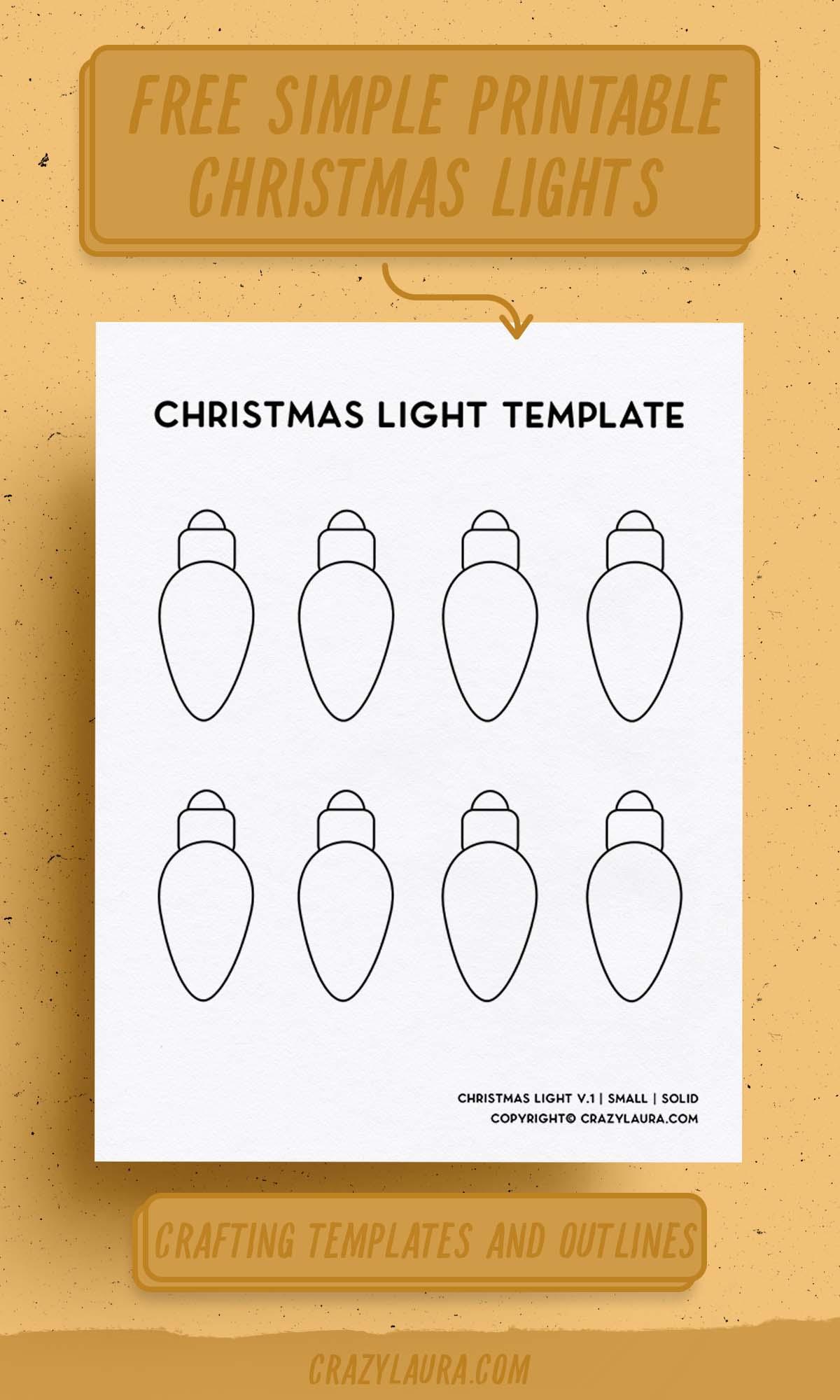 free outline for christmas tree lights