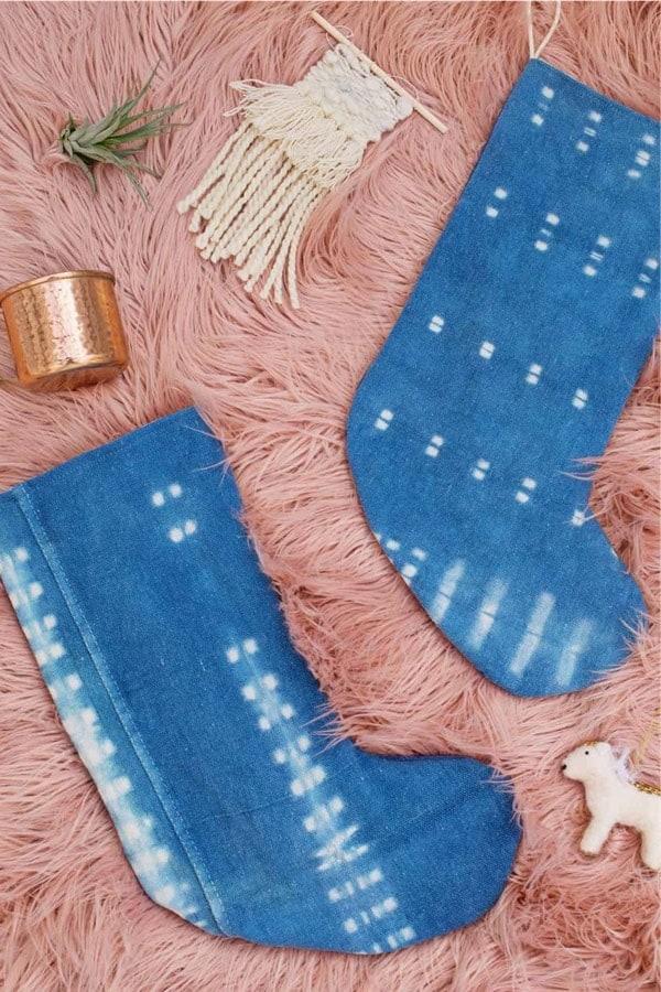 how to make indigo december stockings