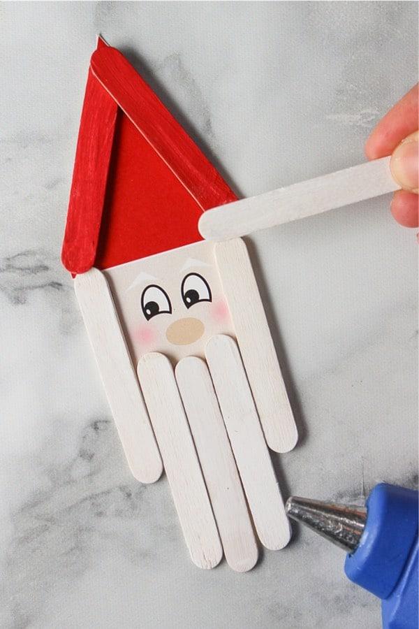 christmas popsicle stick santa claus craft