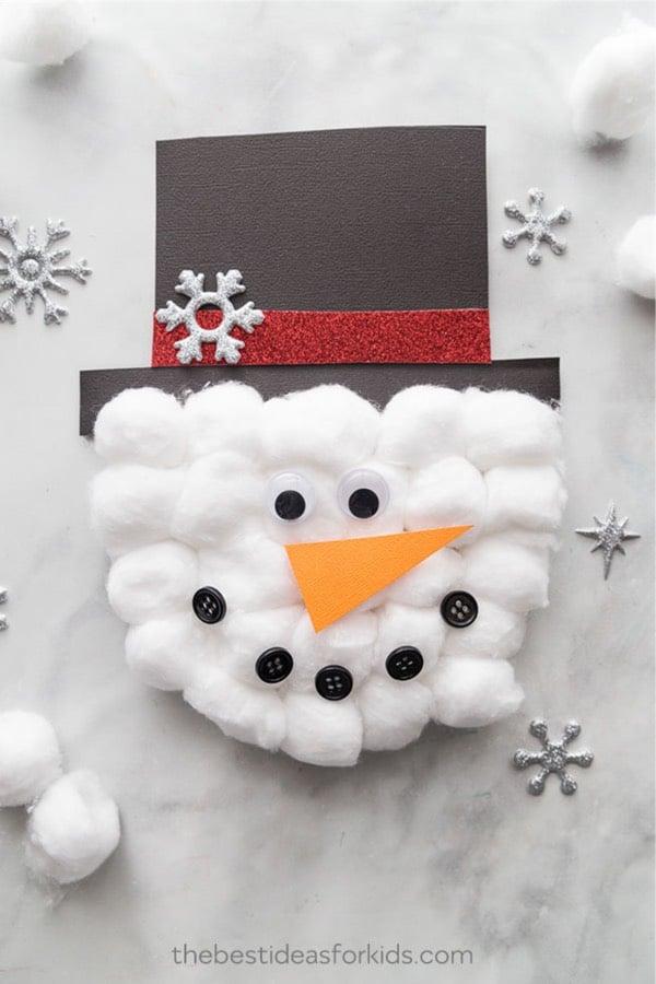easy craft paper snowman craft