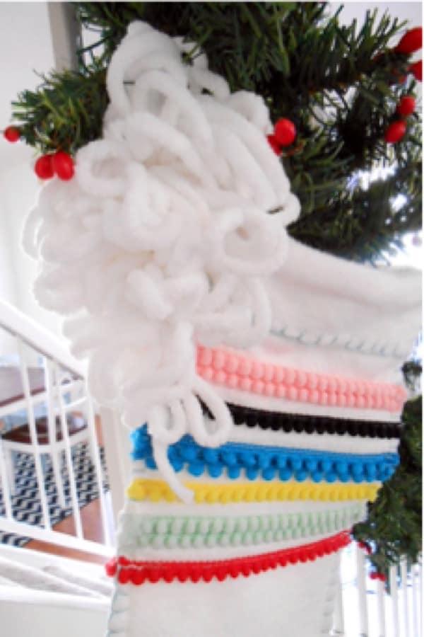 creative diy anthropologie christmas stocking