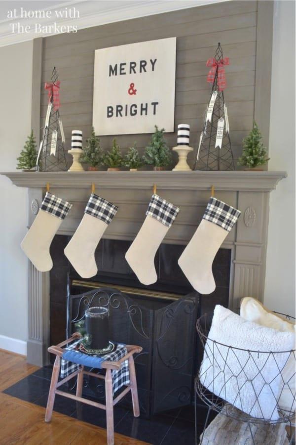 make christmas stockings with old fabric