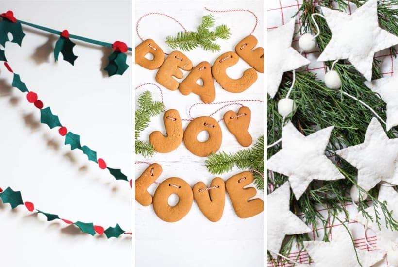 easy christmas garland decoration tutorials