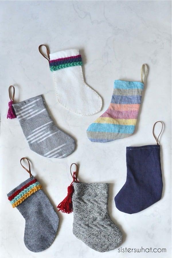 cute diy mini stocking tutorial