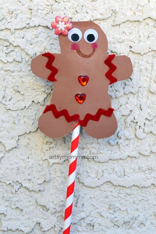 simple gingerbread man craft idea for kids