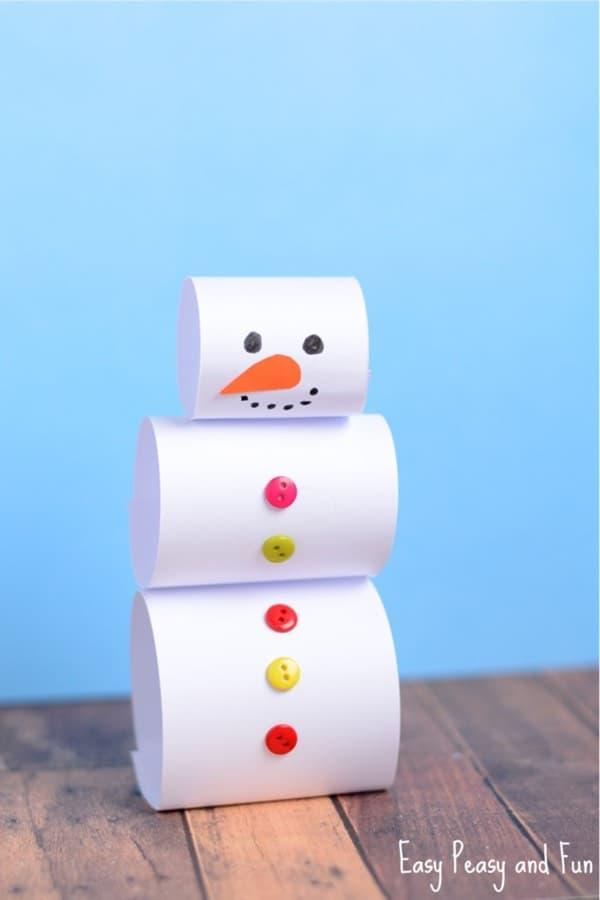 best snowman craft for preschoolers