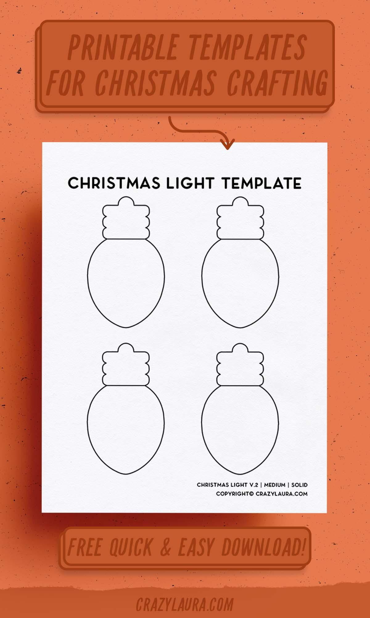 small holiday bulb printable tempaltes