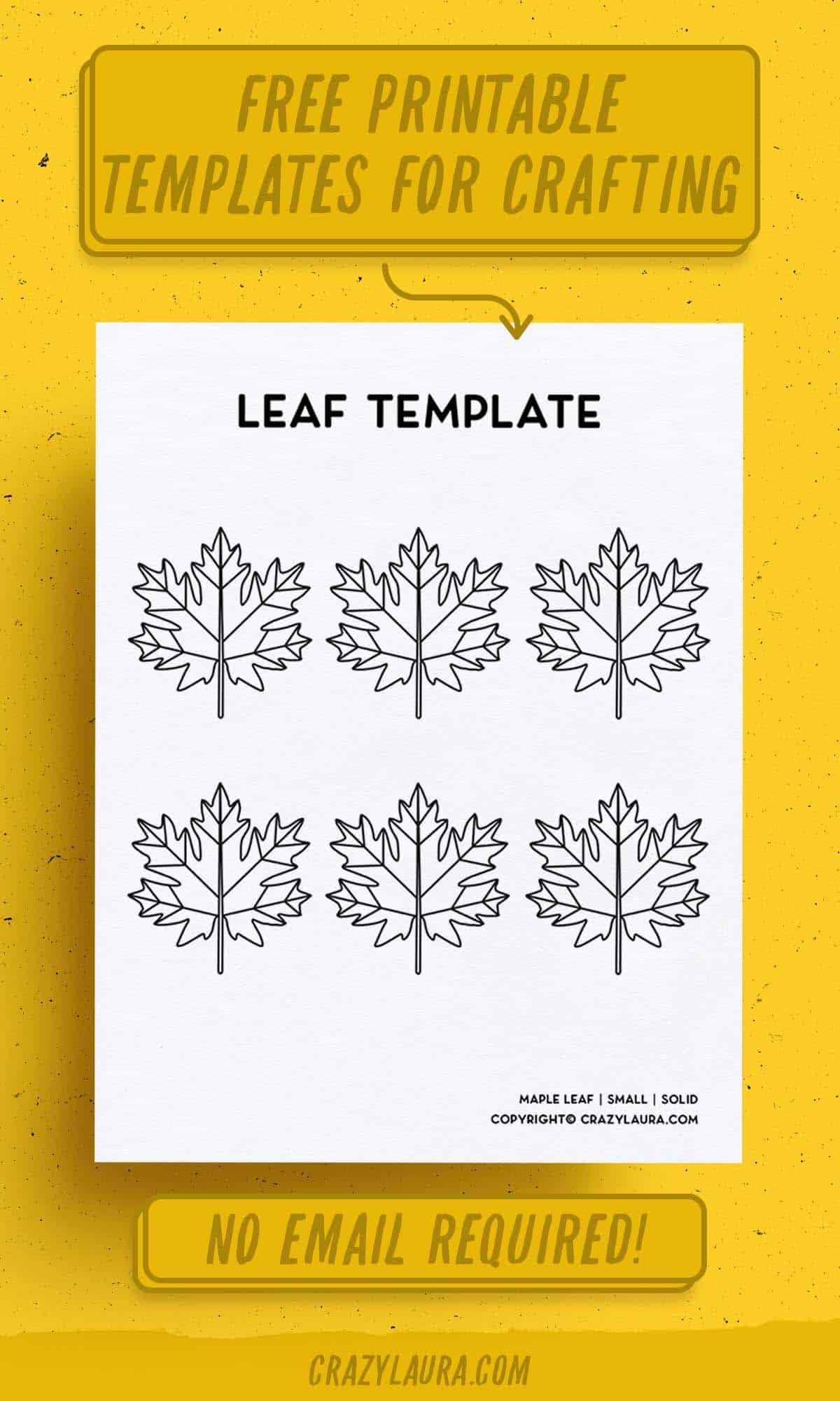 oak tree leaf shape to print off