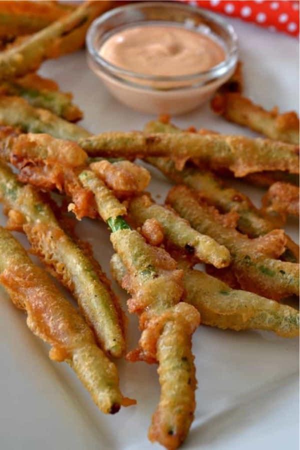 fried green bean recipe for appetizer