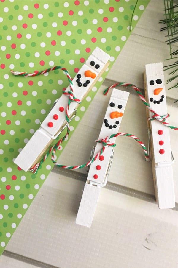 cheap snowman craft idea for young kids