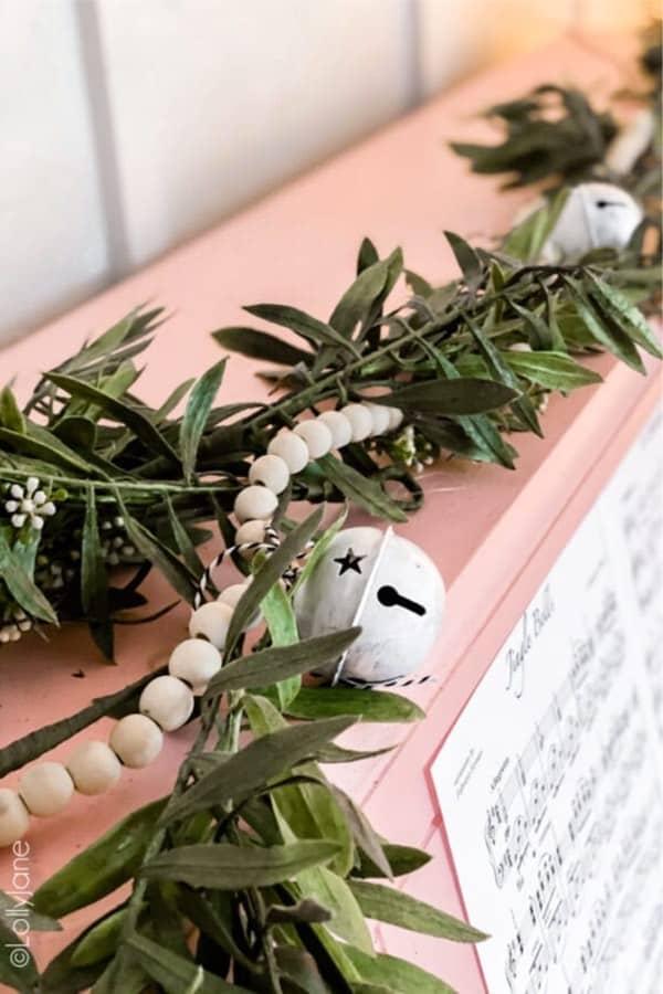 creative jingle bell garland for christmas time