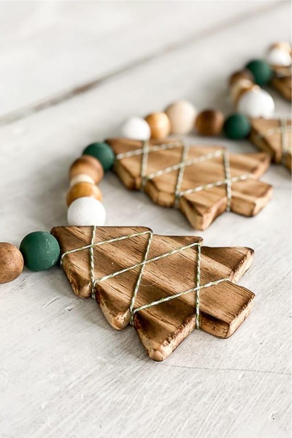 wooden christmas diy decoration