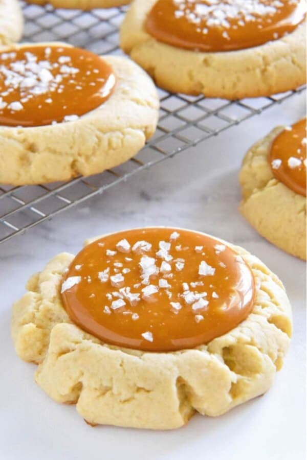 holiday cookie idea with caramel