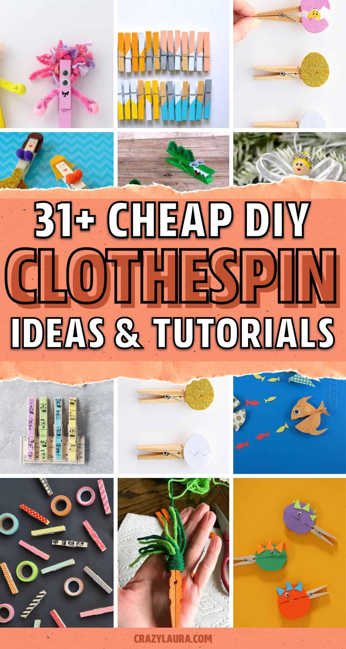 diy clothespin craft tutorials