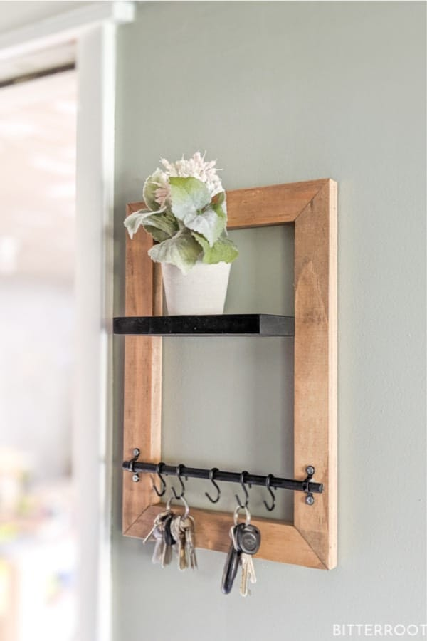 simple to make key holder with shelf