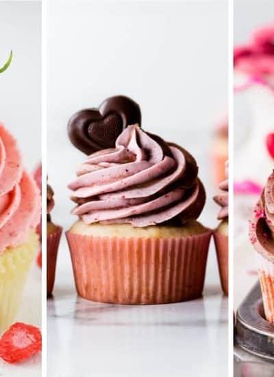 last minute valentine cupcakes