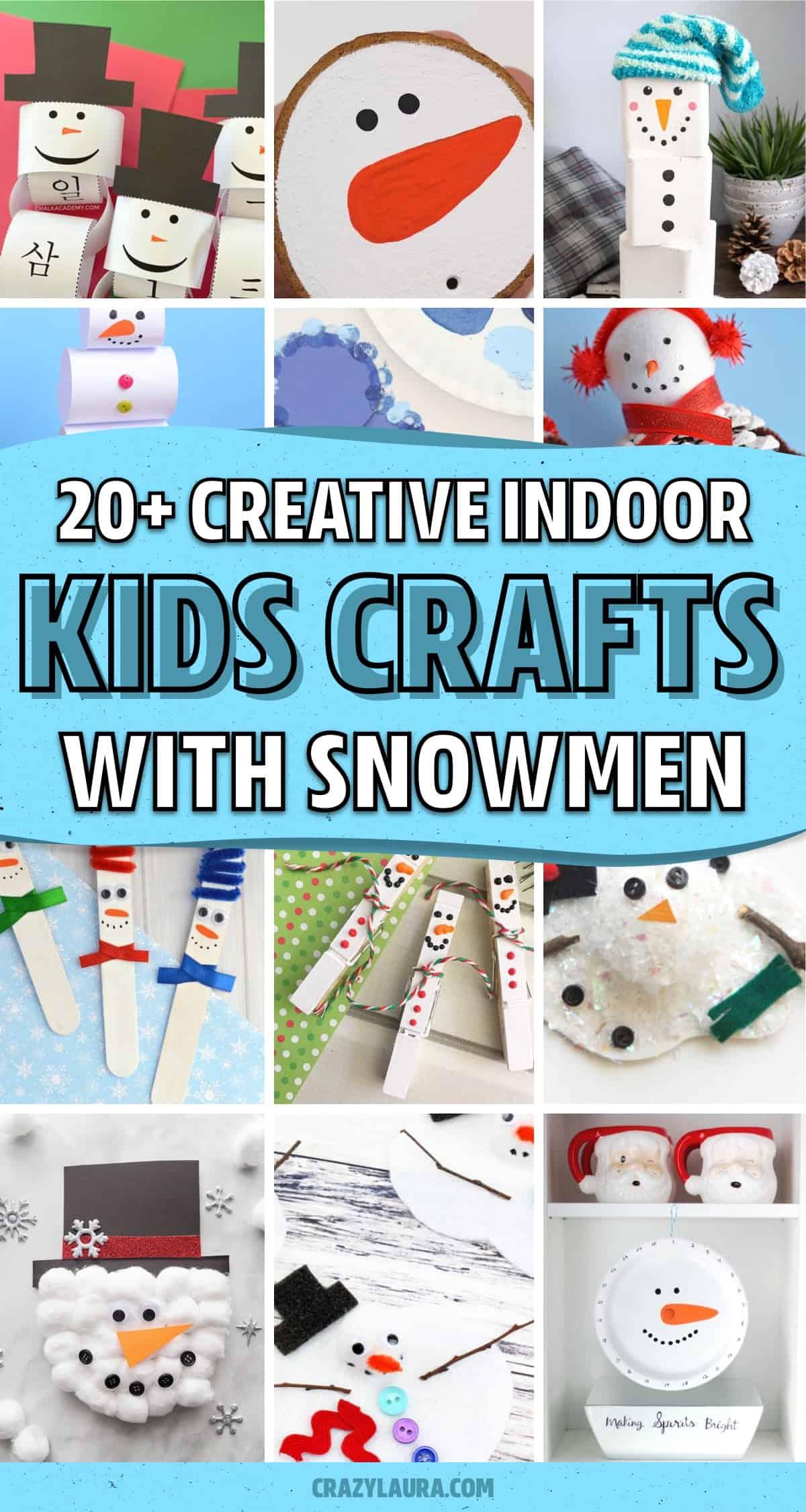 snowman craft ideas for preschoolers