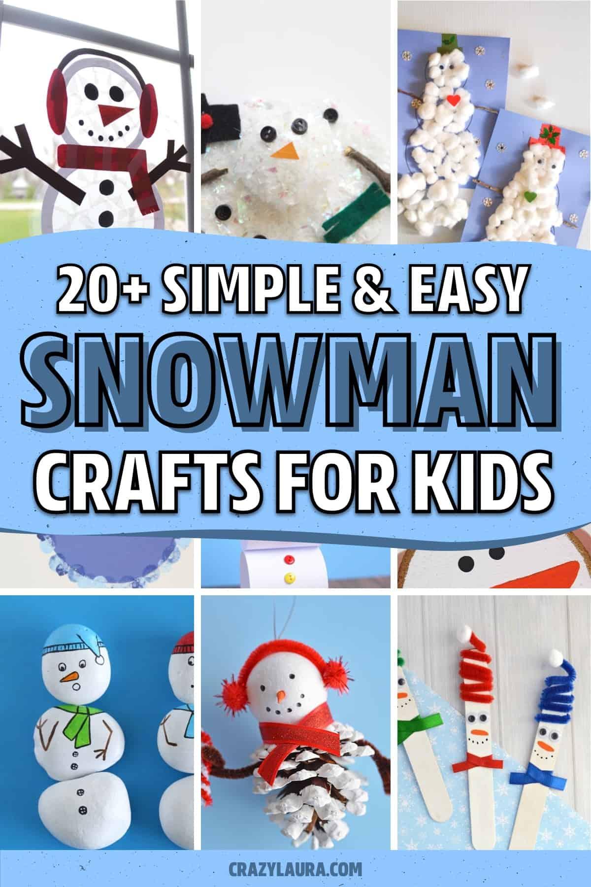 indoor craft tutorials with snowman theme