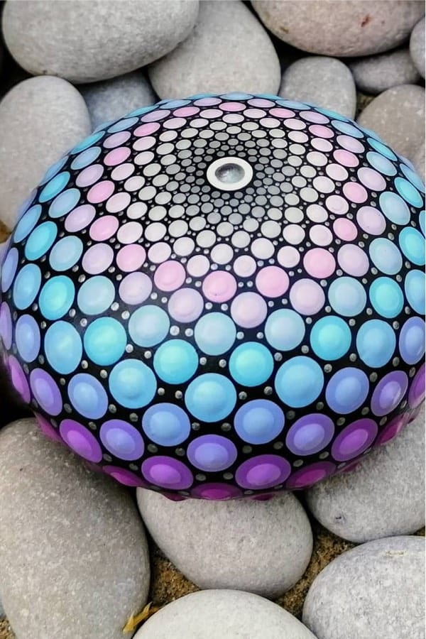 inspiration for mandala painted rocks