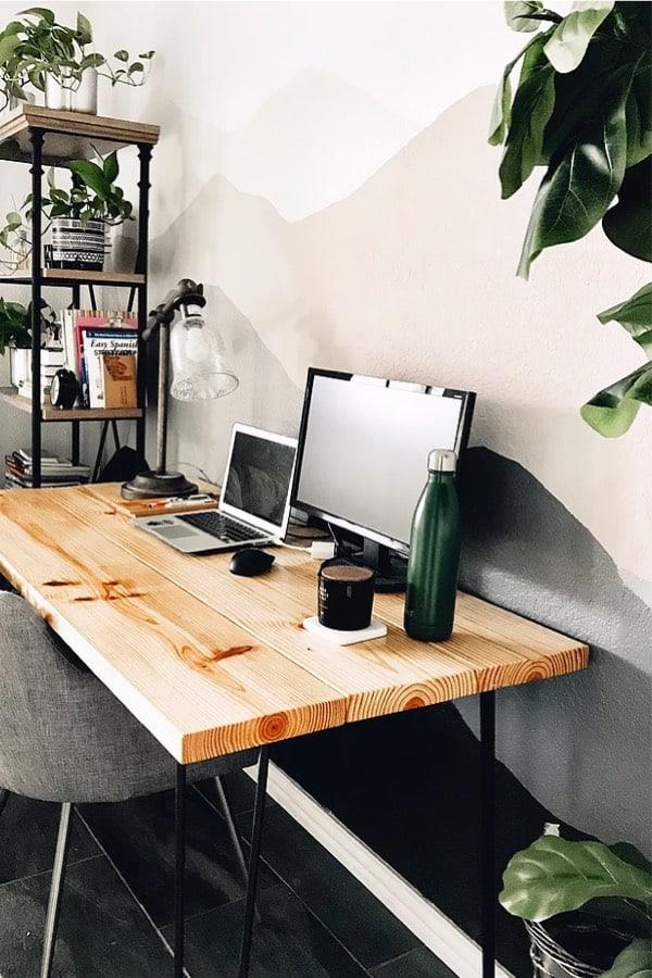 simple 3x6 wood desk plans