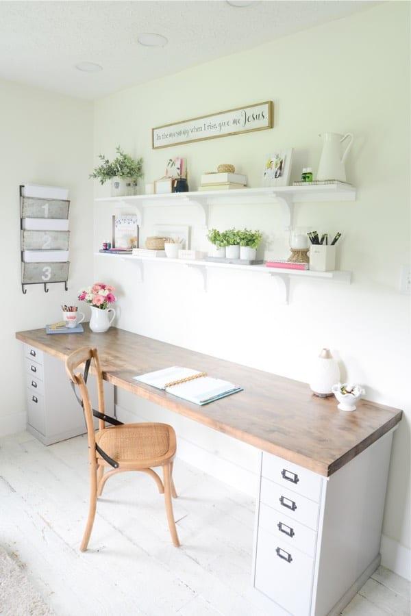 home office diy butcher block desk plans