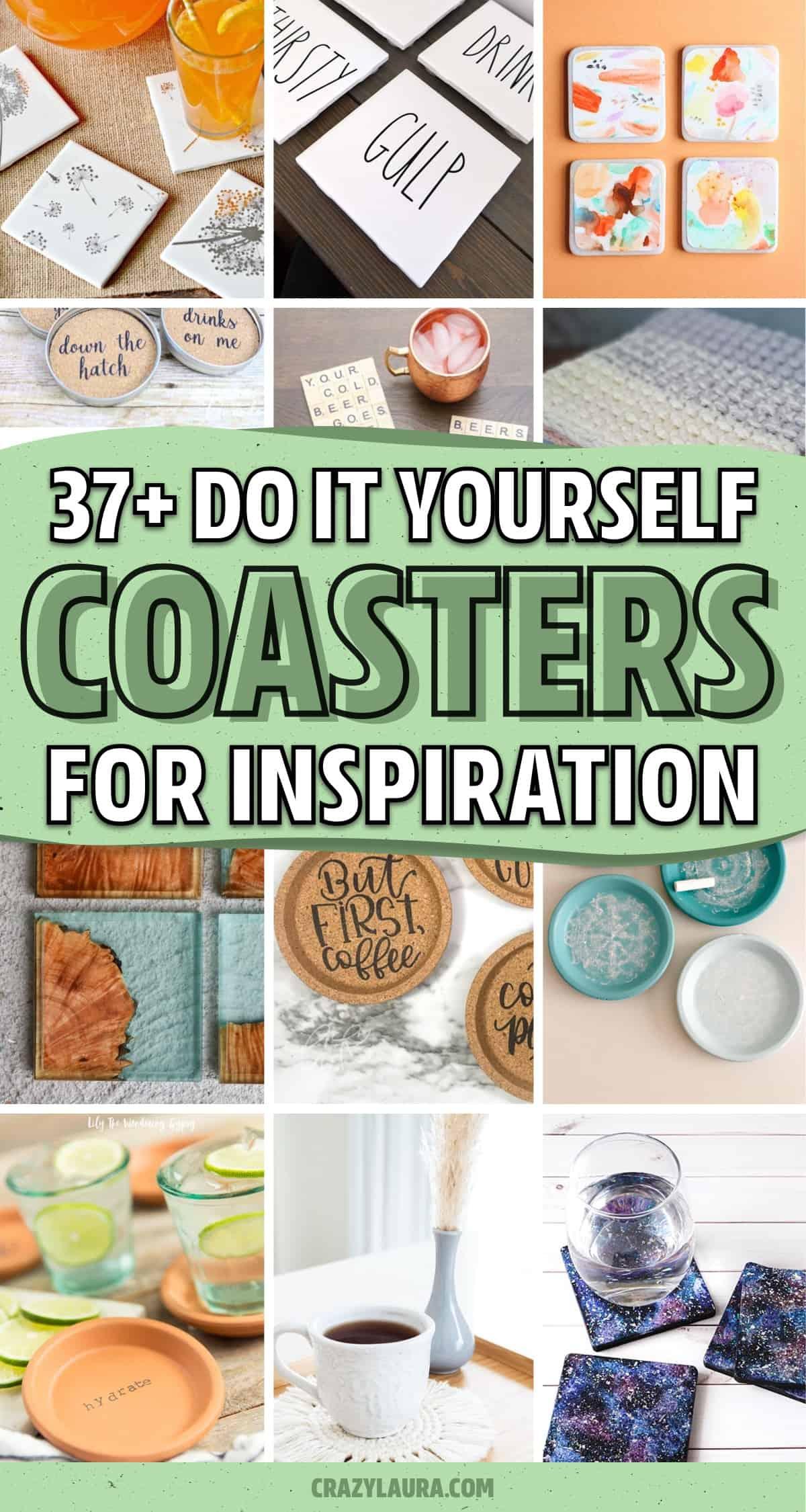 creative coaster ideas and tutorials