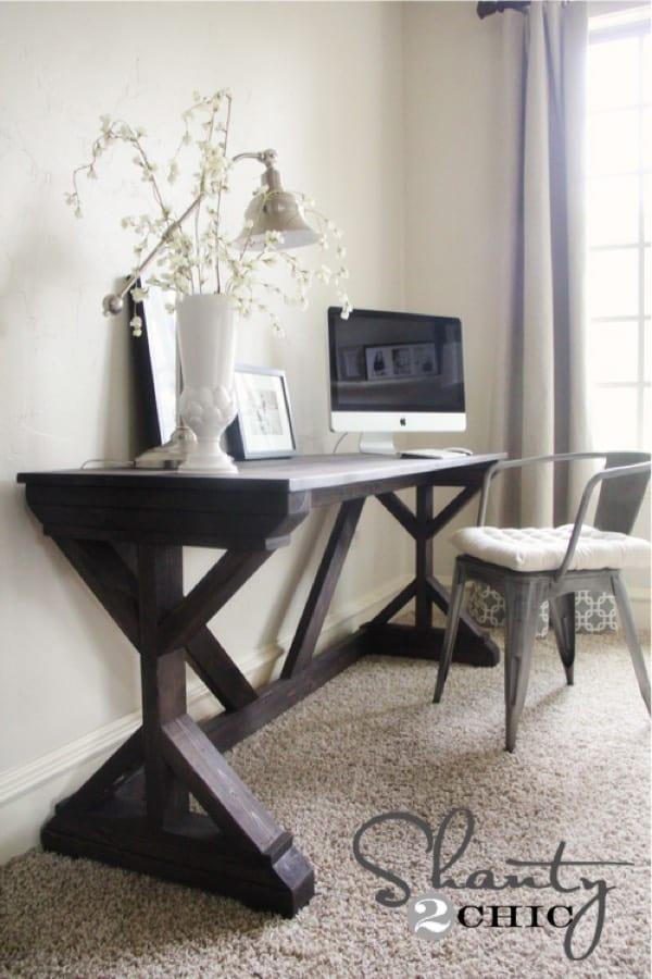build your own bedroom desk plan