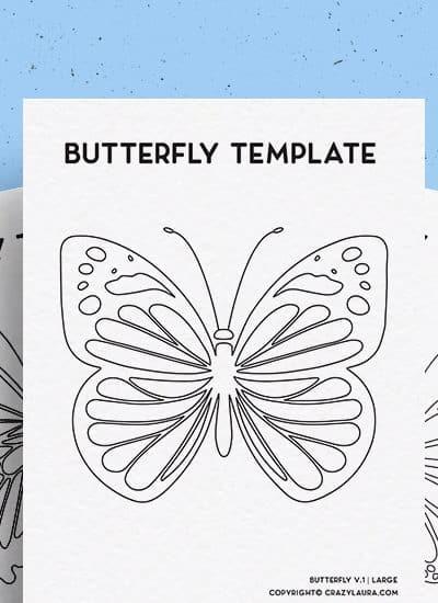 free pdf template of butterflies