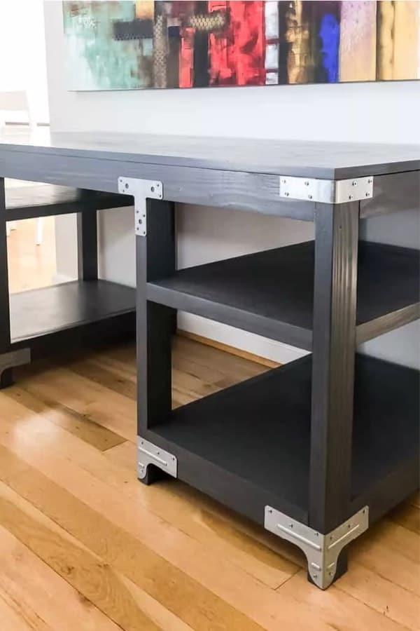 black wood computer table plans