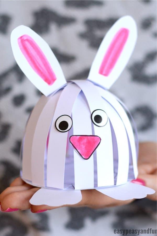 construction paper bunny craft