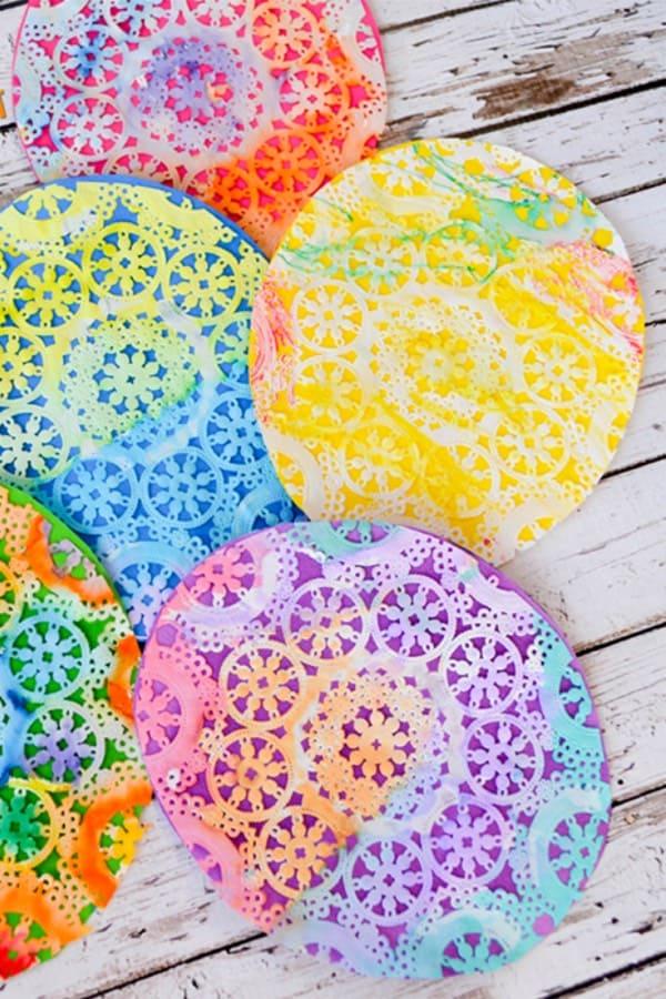 easter egg doily craft for kids