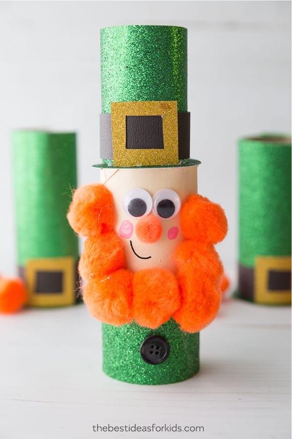 toilet roll craft with leprechaun