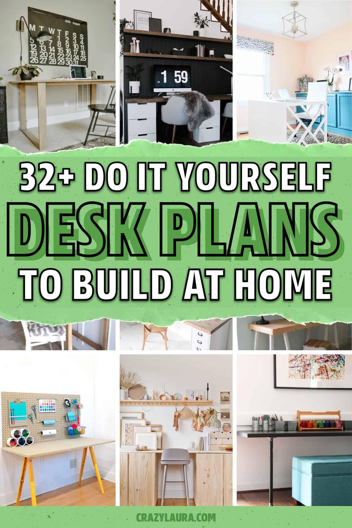 diy desk plans to build