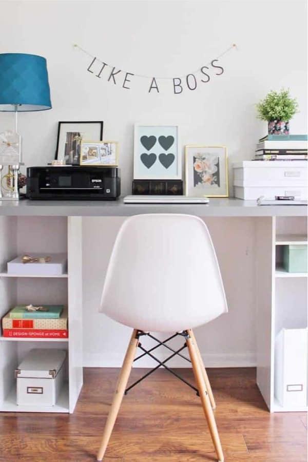 ikea desk hack for home office setup