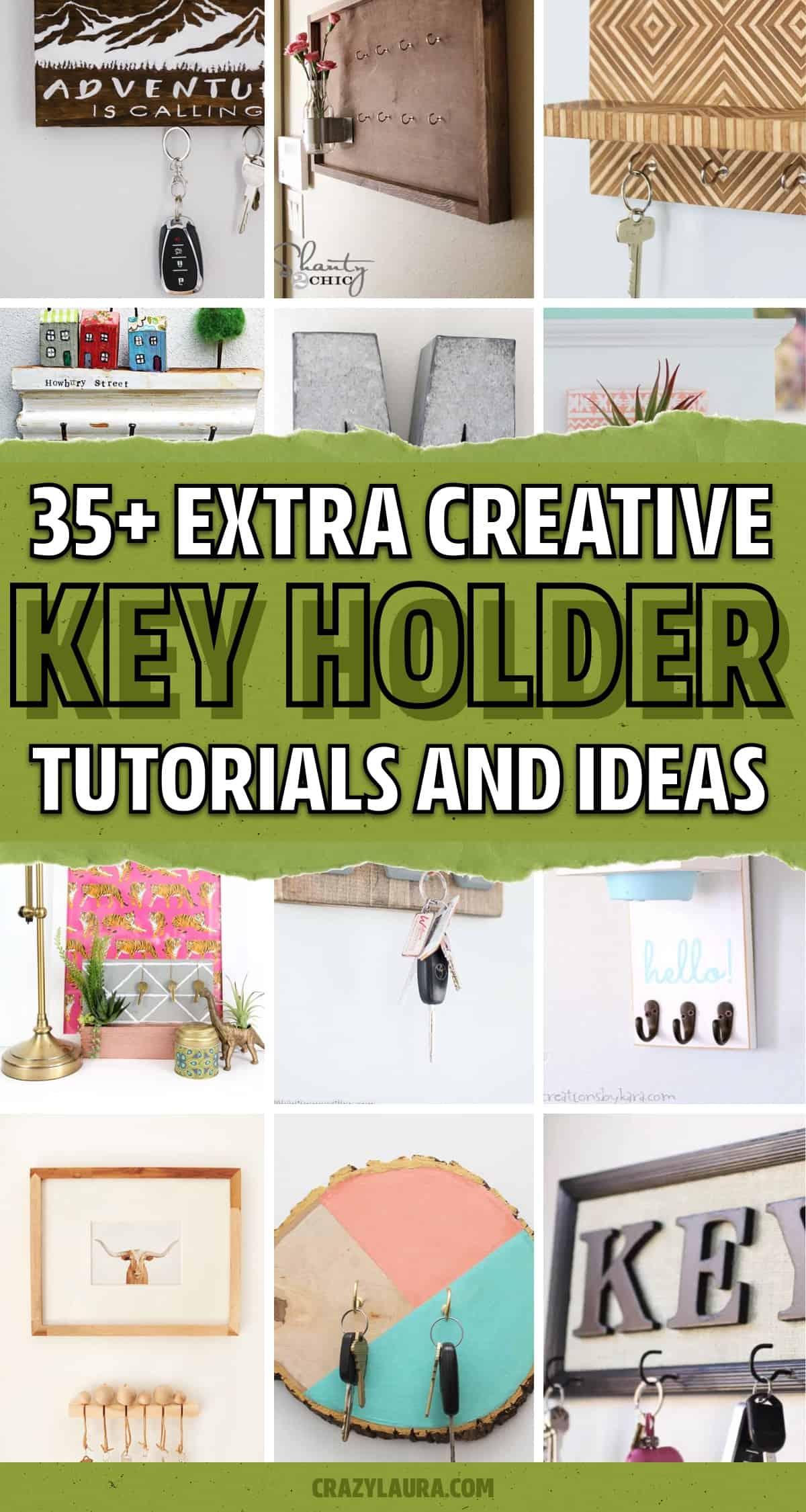 creative key holder crafts