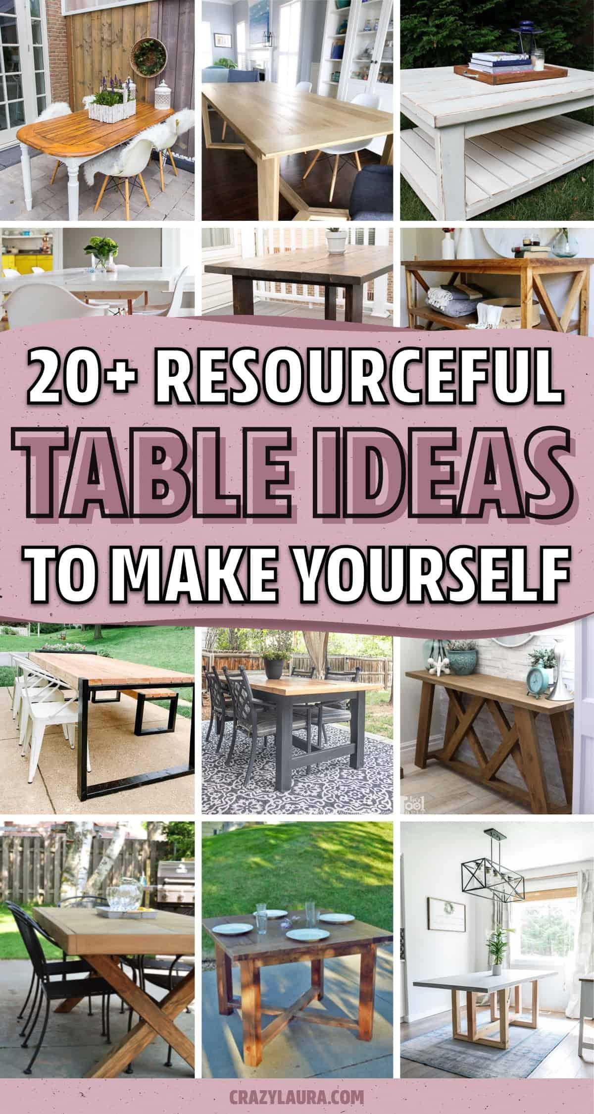 easy ideas for diy tables