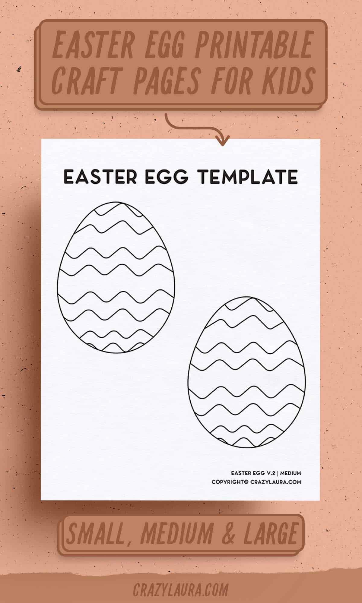 free eater egg outline craft printables