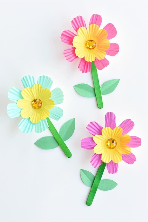 paper flower kids craft