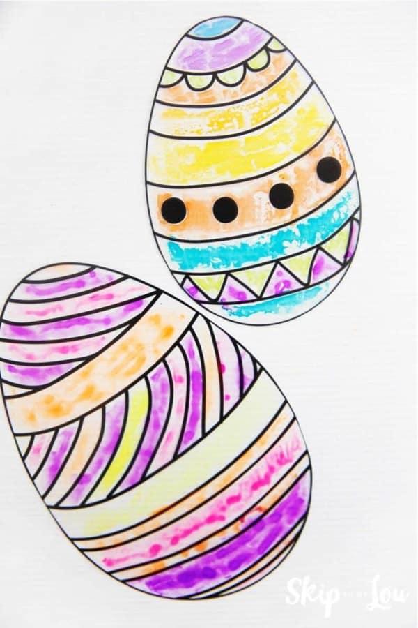 colorful easter egg suncatchers