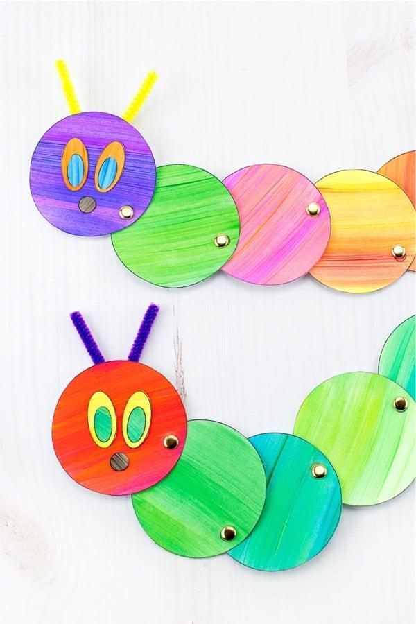 colorful caterpillar kid craft