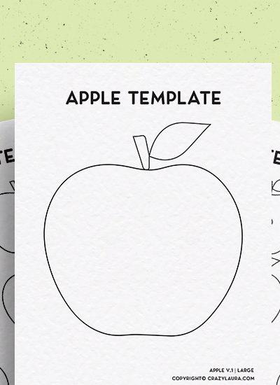 apple kids craft activity template