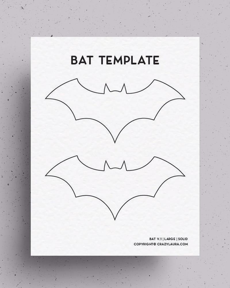 easy bat craft templates