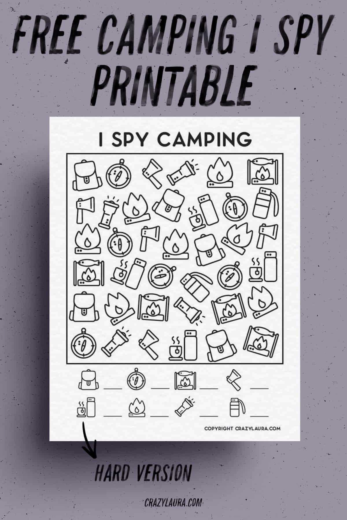 free i spy template games
