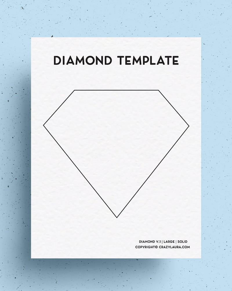 simple diamond outilne