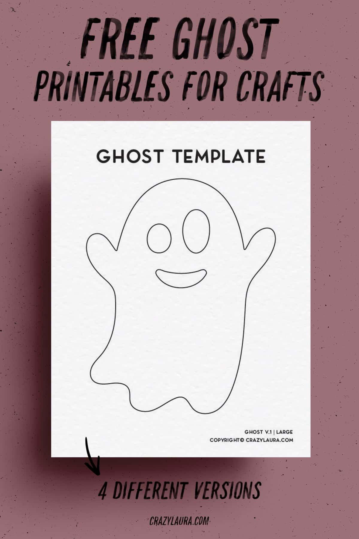 simple printable ghost