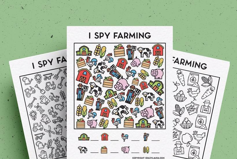 Free Farming I Spy Printable Game Sheets For Kids