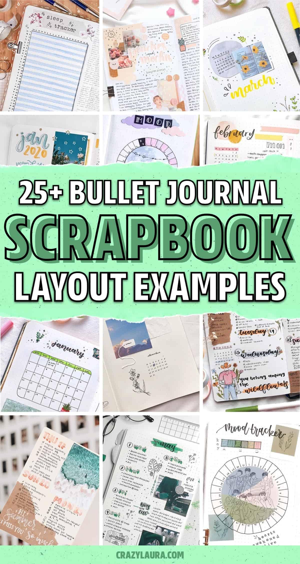 scrap journal spread inspiration